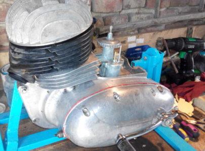 ČZ 125 typ 453 z roku 1961 – Generální oprava motoru
