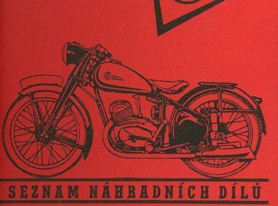 Katalog ND ČZ 125 C, 150 C rok vydání 1951