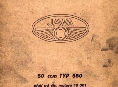Katalog ND Jawa 550 rok vydání 1955