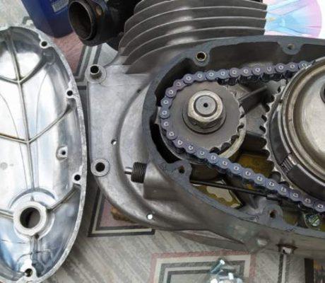 ČZ 250 typ 455 z roku 1961 – Skládání motoru