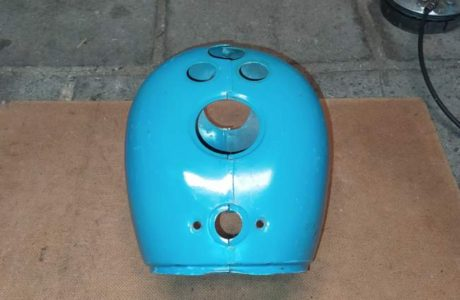 Jawa 50 typ 555 z roku 1959 – Vraceni puvodni barvy 30 460x300 - Jawa 50 typ 555 z roku 1959