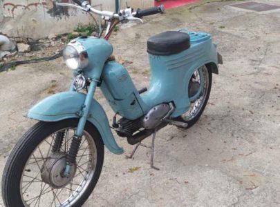 Jawa 50 typ 555 z roku 1959 – První start