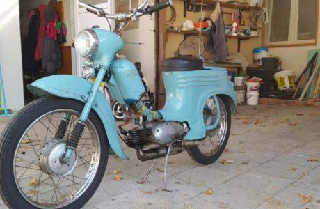Jawa 50 typ 555 z roku 1959 2 460x300 - Jawa 50 typ 555 z roku 1959