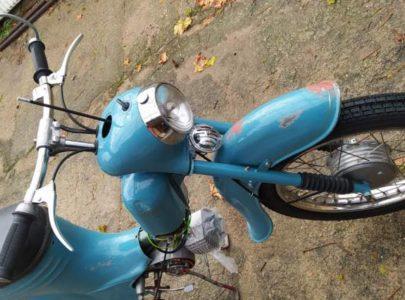 Jawa 50 typ 555 z roku 1959 – Skládání předku motocyklu