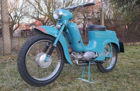 Jawa 50 typ 555 z roku 1959 Po restaurovani 6 460x300 - Jawa 50 typ 555 z roku 1959 - Po restaurování