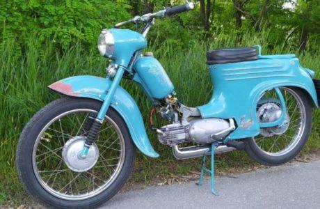 Jawa 50 typ 555 z roku 1959 Prvni vetsi projizdka 1 460x300 - Jawa 50 typ 555 z roku 1959 - První větší projížďka