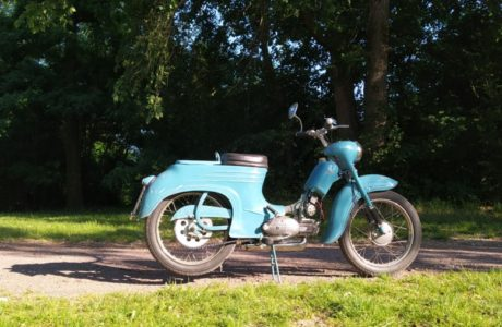 Jawa 50 typ 555 z roku 1959 Zabeh motoru 2 460x300 - Jawa 50 typ 555 z roku 1959 - Záběh motoru