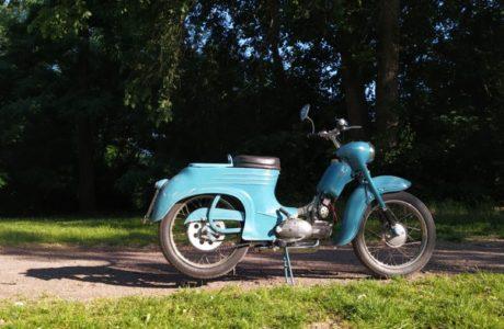 Jawa 50 typ 555 z roku 1959 Zabeh motoru 3 460x300 - Jawa 50 typ 555 z roku 1959 - Záběh motoru